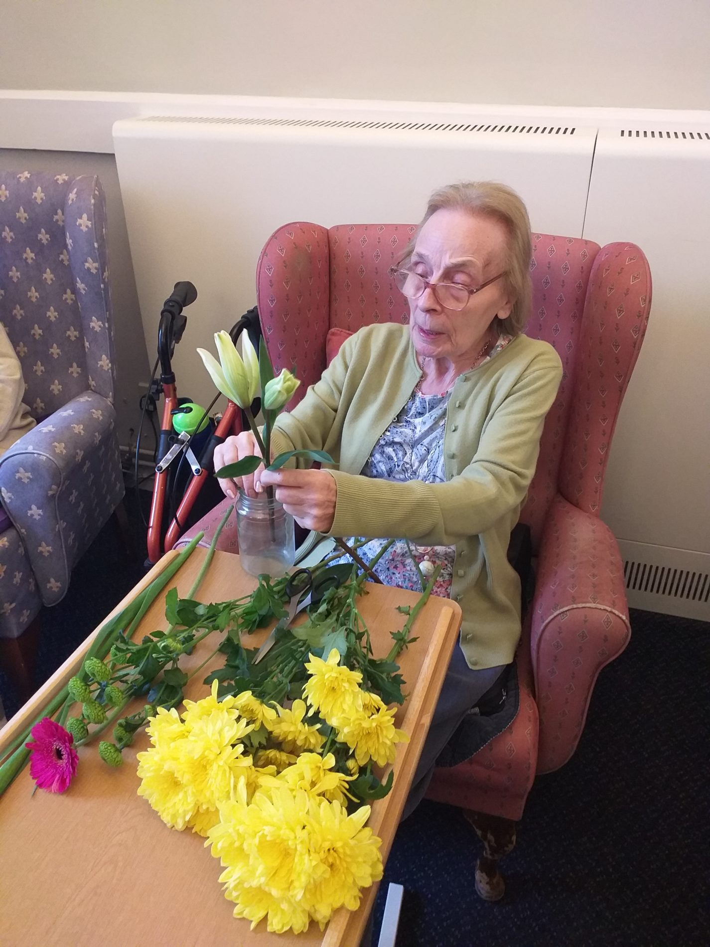 Flower Arranging at Paxton Hall Care Home